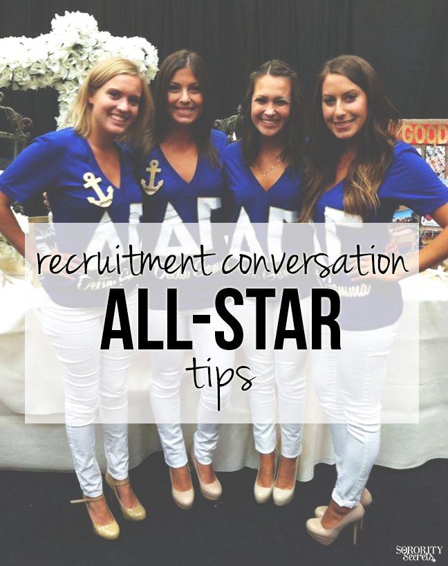 Recruitment Conversation All-Star Tips