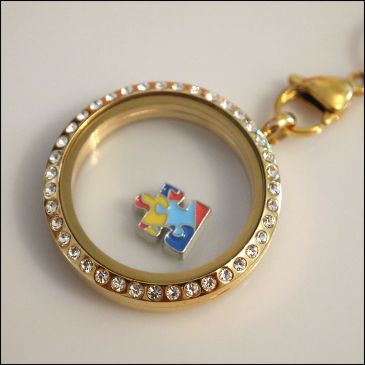 Autism Awareness Floating Charm | Latest fashion jewellery from around the world