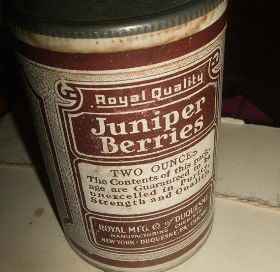 Old Juniper Berries Tin