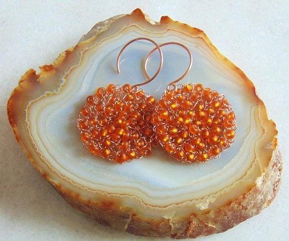 Wire crochet earrings wire crochet jewelry wire by styledonna