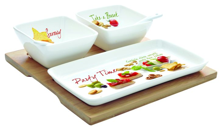 Zestaw na przekąski    #set for #snacks ; #party #decosalon #giftidea