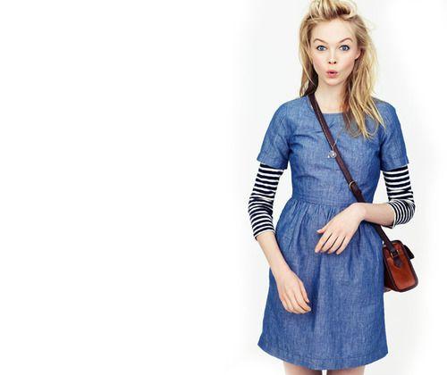 .: Summer Dresses, Denim Dresses, Dresses Fashion, Songbird Dresses, Stripes Shirts, The Dresses, Stripes Tees, Chambray Dresses, Layered Stripes
