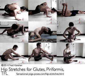 Hip Stretches for Glutes, Piriformis, and TFL - Yoga