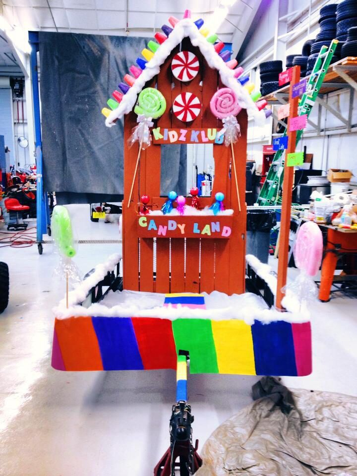 Candyland Christmas Parade Float Diy Ideas Amp Crafts