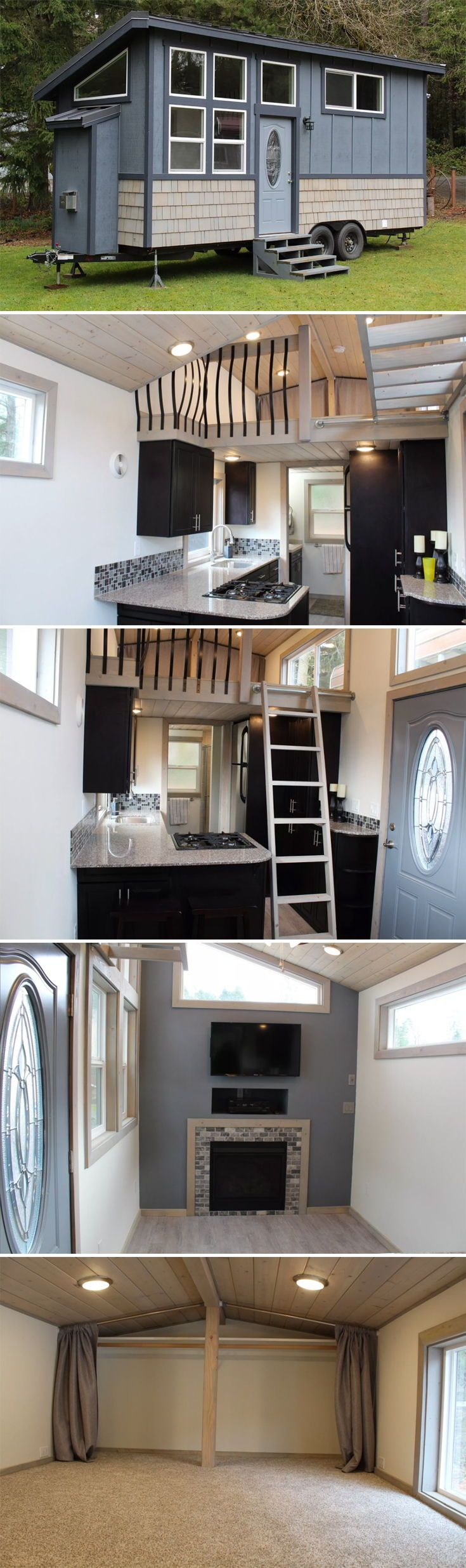 1 bedroom with loft for rent  Kingus Loft by Tiny Houses of Washington  Tiny Houses  Pinterest