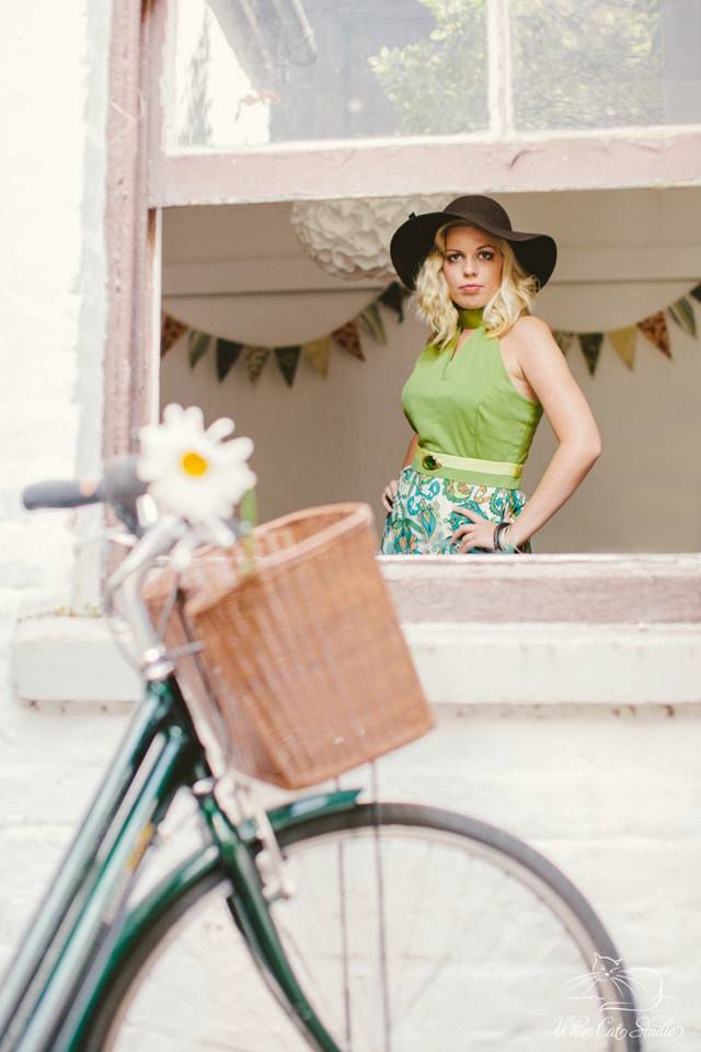 Alice Halliday 'Green with Envy Dress' size 14 €220 from Brocade & Lime boutique | Modeled by Kayleigh Robinson | Photographed by White Cat Studio | Hair & makeup by Rosa O