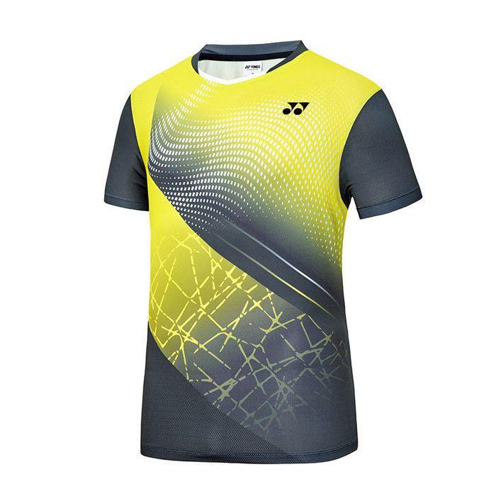 825de7d1bd05 Yonex 2018 S S Collection Men s Badminton Round T-Shirts Yellow NWT  81TS047MYL  YONEX