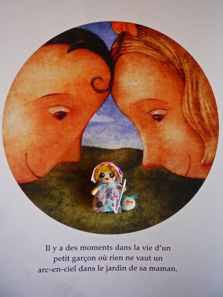 "Lamb had a little Mary: Muñeca de trapo miniatura 1 1/2"". Miniature rag doll 1 1/2"". By Georgina Verbena"