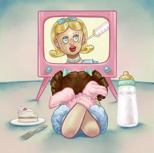 One day she turned on the tv Mrs. Potato on the screen Showing off her surgeries She thought that her pain meant beauty