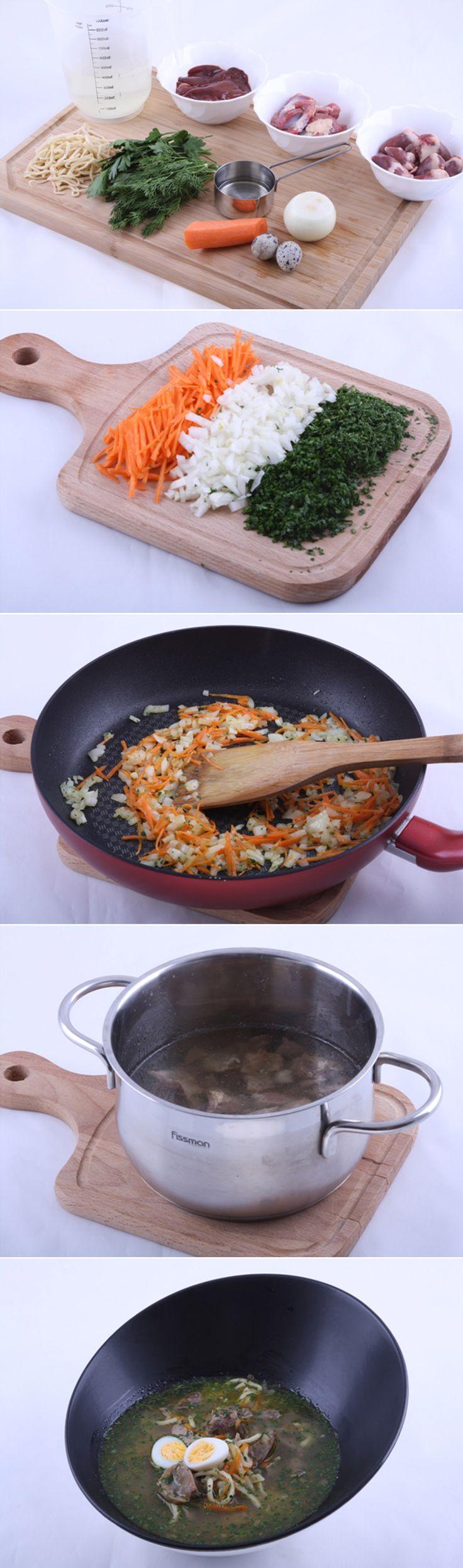 Суп-лапша домашняя с потрошками. Суп с потрошками очень вкусный и будет полезным и легким для желудка. В супе содержится огромное количество полезных веществ, он питательный, при этом является низкокалорийным. Рецепт не просто хороший, а отличный! http://vk.com/dinnerday; http://instagram.com/dinnerday #суп #мясо #кулинария #лапша #с_потрошками #курица #еда #овощи #рецепт #dinnerday #food #cook #recipe #soup #meat #cookery #noodles #vegetables #chicken