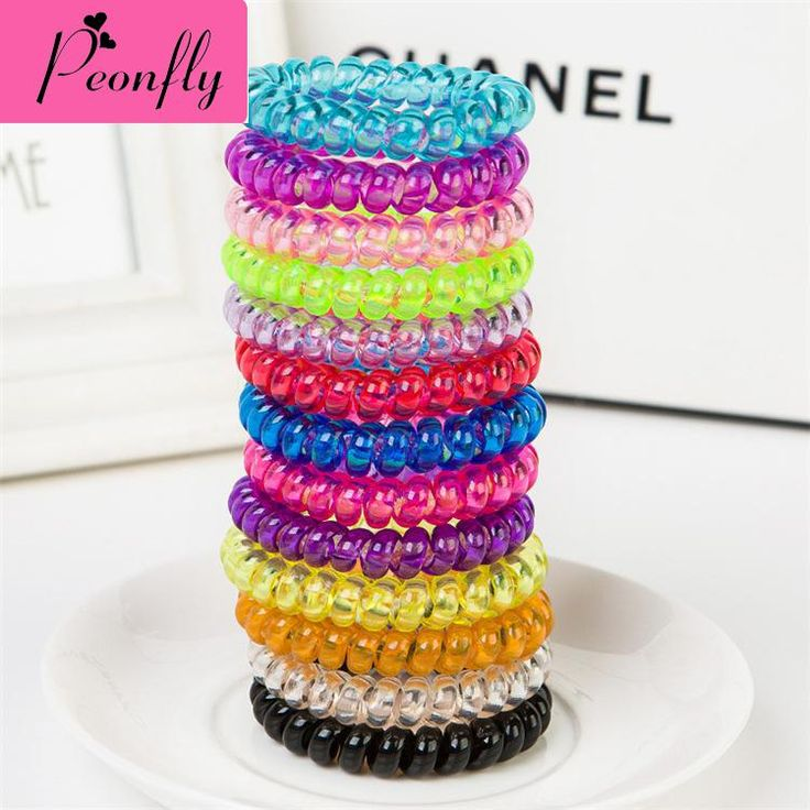 100pcs/lot headwear Candy Color Large Telephone Line Jewelry Manufacturers Wholesale Hair Headdress  Girls Hair Accessories