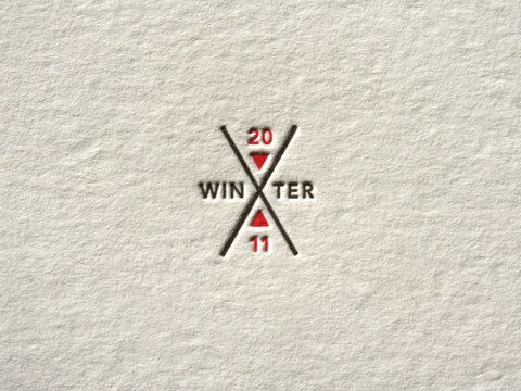 .Christmas Cards, Identity, X Games, Business Cards, Winter Xgames, Letterpresses Logo, Graphics Design, Geometric Shape, Winter 2011
