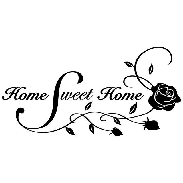Wandtattoo »Home Sweet Home«