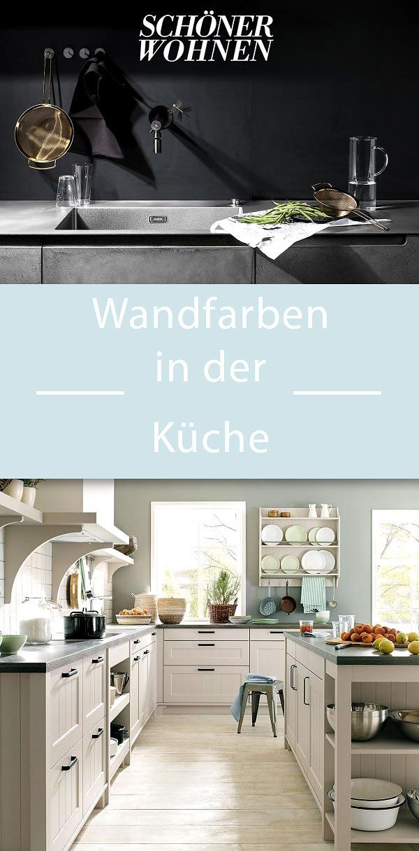 Wandfarben in der Küche | Küche in 2019 | Wandfarbe küche ...