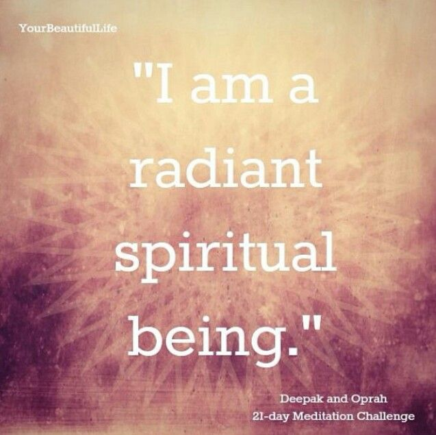 Positive Spiritual Energy Quotes: Deepak Chopra & Oprah 21 Day Meditation Challenge Day 2