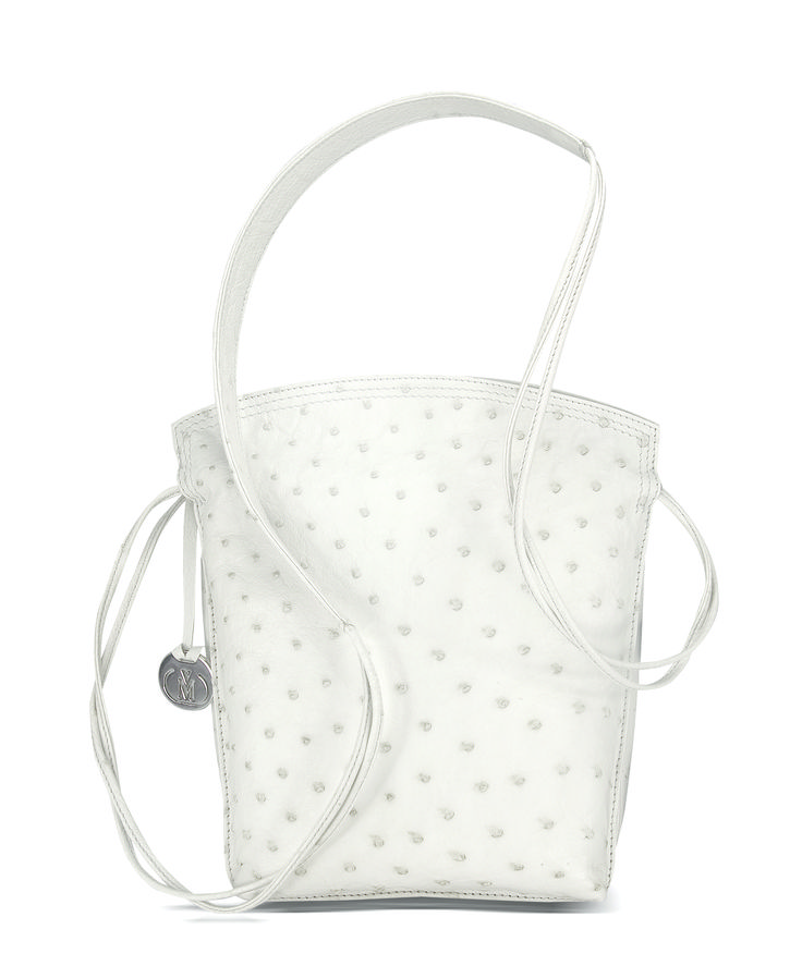 via la moda genuine ostrich leather sling bag