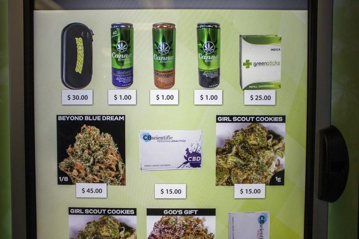 A view of the screen of a ZaZZZ vending machine that contains cannabis flower, hemp-oil energy drink... - REUTERS/David Ryder