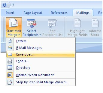 How to Print on Envelopes Using Excel and Word