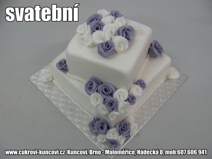 dvoupatrový svatební dort čtverec