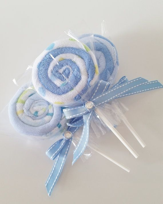 Blue and Green washcloth lollipops are the perfect add on to any baby shower gift or can even be used for baby shower favors! You can use them as an add on to a baby shower gift or order a few for the new mom to be to use later. A new mommy can never have enough washcloths. This set includes three (3) washcloth lollipops. Each lollipop is made with two (2) washcloths each. You will receive one of each design shown. Each washcloth is made of soft terry cotton and measure 9x9 inches. Looking…