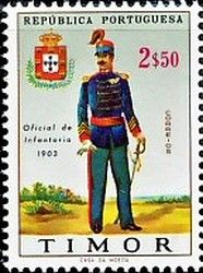 Stamp: Military uniforms (Timor) Mi:TL 352,Sn:TL 329,Afi:TL 344