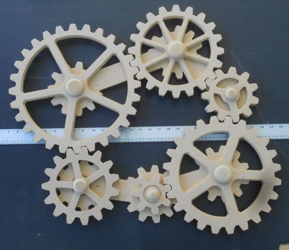 Ring In The Steampunk Decor To Pimp Up Your Home: WORKING GEARS, Wood Gears, Gear Wall, Kinetic Art