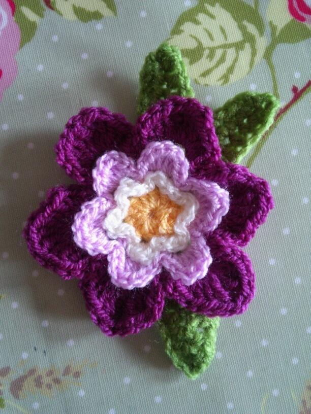 crocheted flower--Rachel and Pip