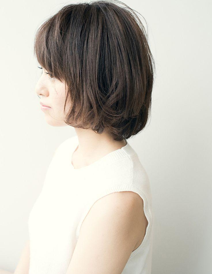 ショートボブパーマでニュアンス《TA−162》   ヘアカタログ・髪型・ヘアスタイル AFLOAT(アフロート)表参道・銀座・名古屋の美容室・美容院