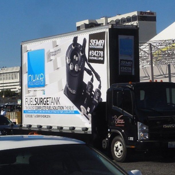 A little throwback to Sema show 2014 when these mobile billboard joined the LasVegas parade!