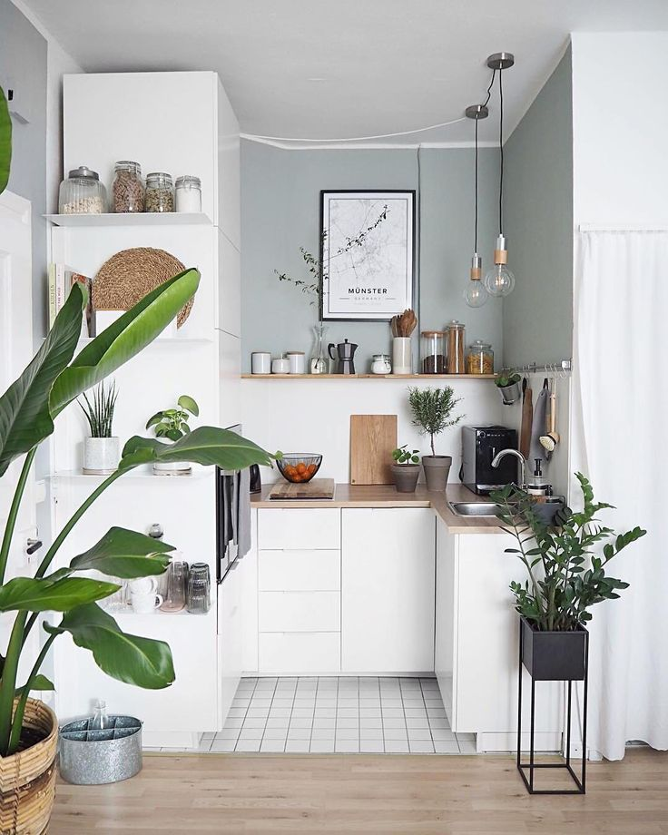 "Apartment Therapy on Instagram: ""The cutest little kitchen space 🌿(Image: @…"