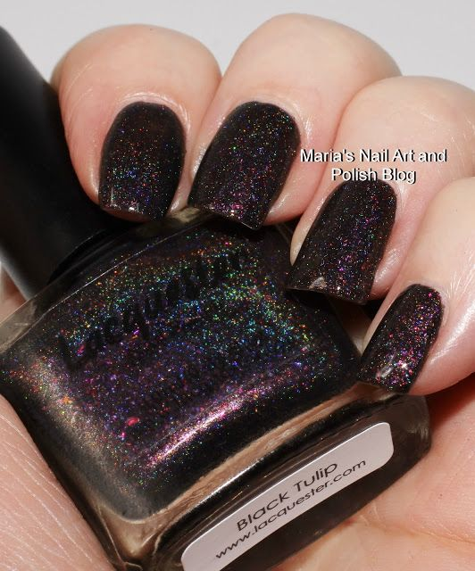 Marias Nail Art and Polish Blog: Lacquester Black Tulip swatches