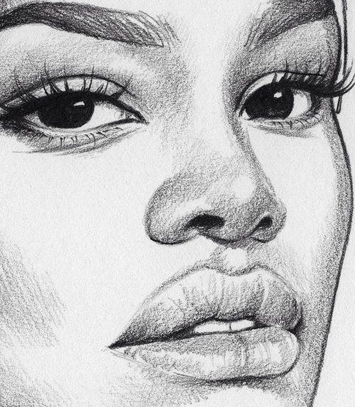 Drawing | girl, love and beautiful