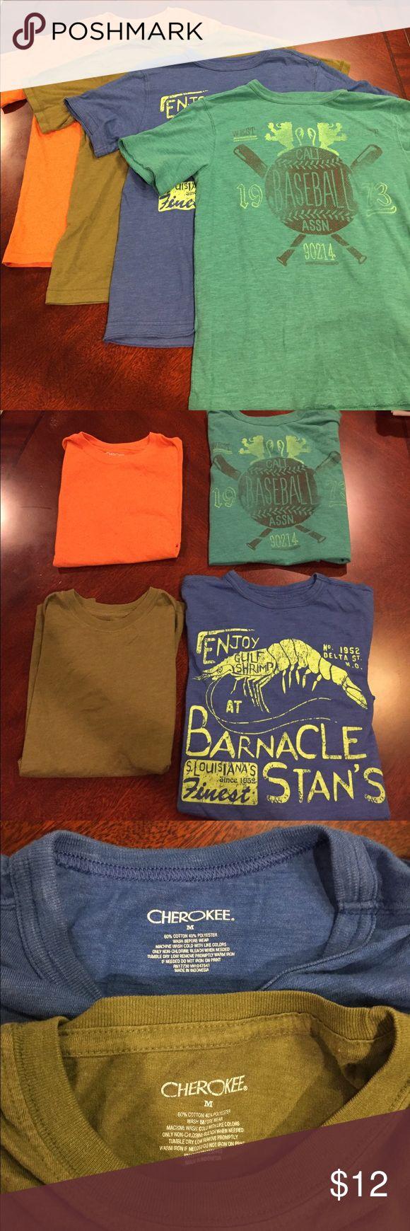 4pc boys Cherokee brand t-shirts 4 Cherokee t shirts all size M (8/10) Cherokee Shirts & Tops Tees - Short Sleeve