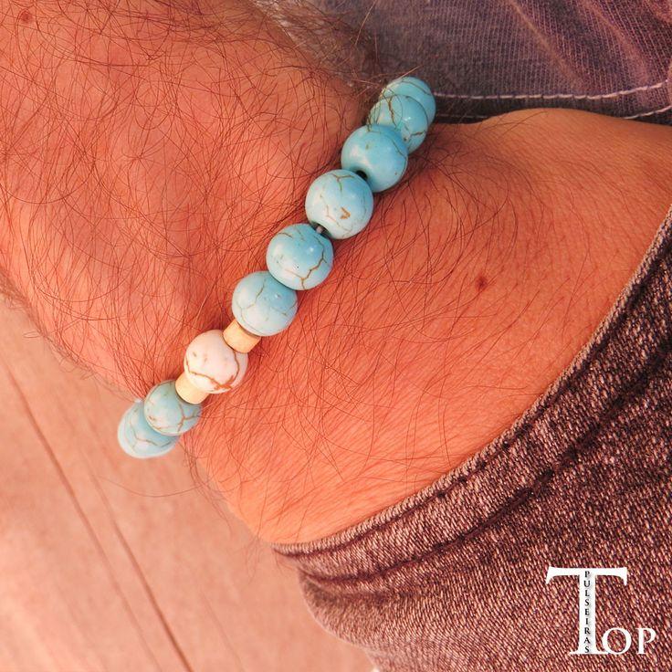 pulseira-masculina-pedra-azul-turqueza-moda-masculina