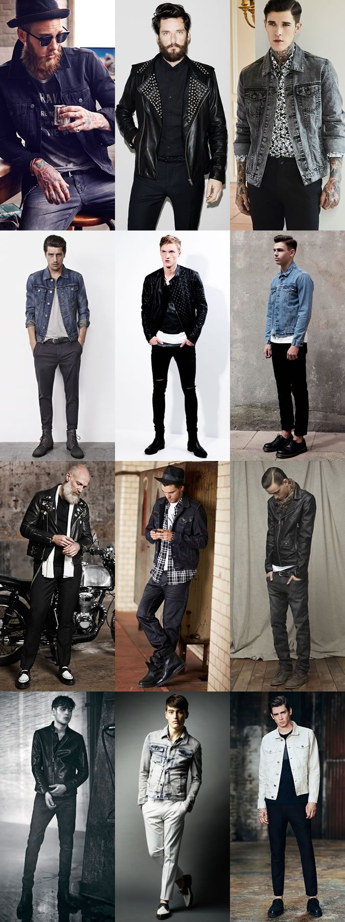 Men's 2014 Autumn/Winter Fashion Trend: Rockabilly Style with the right Jacket Lookbook Inspiration