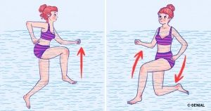 10Ejercicios acuáticos para tener una cintura delgada yunas piernas torneadas