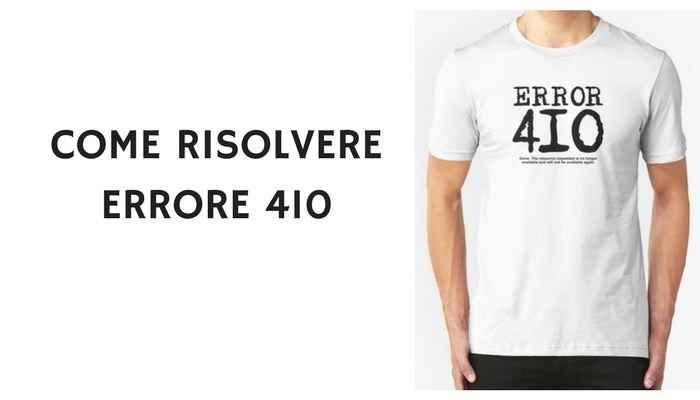 errore 410: Come utilizzarlo lato SEO e come risolverlo correttamente Esistono diversi errori che un server web potrebbe restituire ad un browser, uno dei più popolari è l'errore 404 e 410. In questa guida ti spiego cosa è l'errore http 410 gone, come utilizzarlo lato  #e