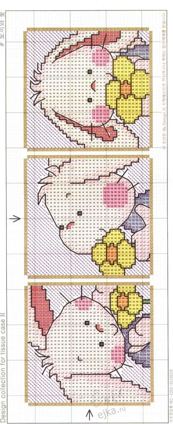 Забавные животные - зайчики, маленькие схемы для вышивки крестиком