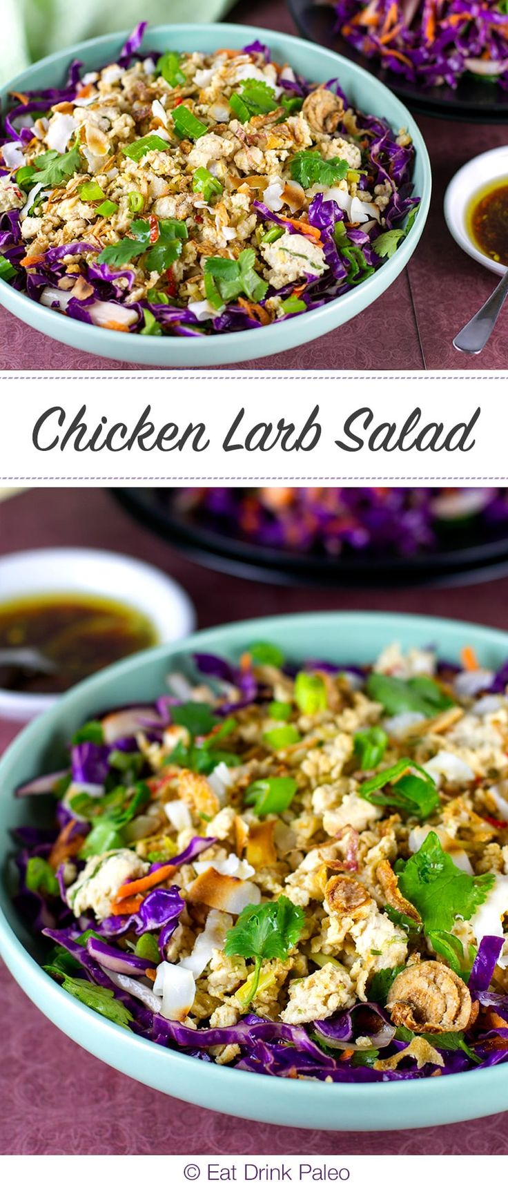 This chicken larb salad is like Pop Rocks Candy - layers of textures and amazing punchy flavours unravel in your mouth with each bite.
