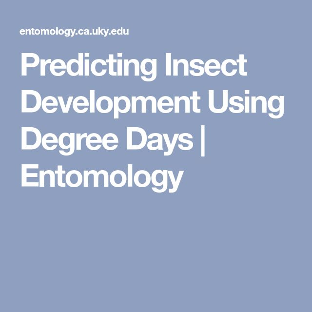 Degree Days - The easiest way to calculate degree days for a specific date is to add the daily high and low temperature and divide by two. Then, subtract the threshold temperature for the particular insect. For example, if the min/max thermometer indicates a low of 45 degrees F and a high of 75 degrees F, then the average temperature for the day was (45+75)/2 = 60 degrees F. If the threshold temperature was 50 degrees F, then 10 degree days would have accumulated.