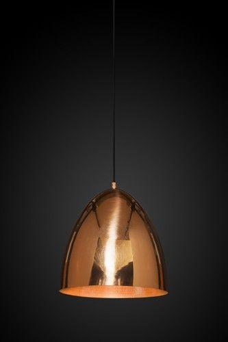 Egg Copper Ceiling Lamp