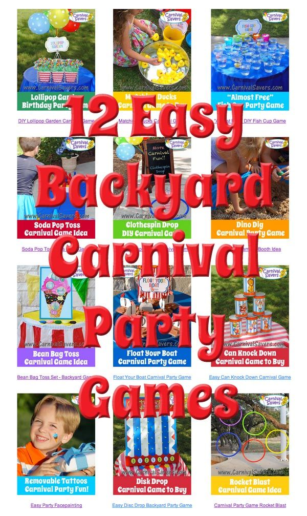 12 EASY Carnival Birthday Party Games!