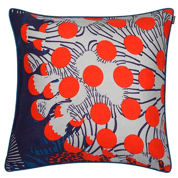 Merivuokko cushion cover, turquoise, by Marimekko. New & Noteworthy Pinterest Cushion ...