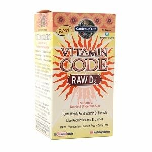 Garden of Life RAW D3 1000 IU: Vitamin Code RAW Vitamin D3 is different from any other vitamin D nutritional supplement available today. In following with the Vitamin Code philosophy, RAW Vitamin D3 is a whole food vitamin D complex