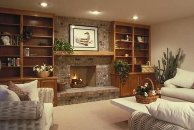 1000 Ideas About Brick Fireplace Wall On Pinterest Red