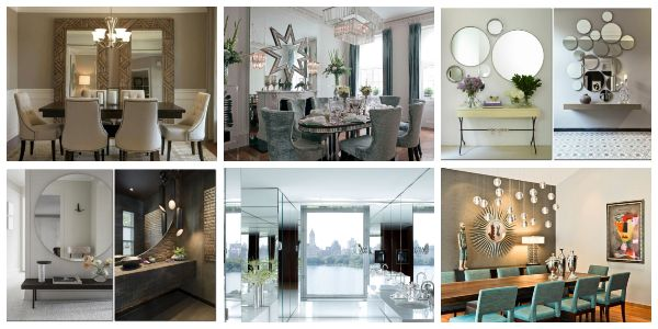 How To Decorate Your Home With Mirrors In Some Stunning Ways Mirror Dining Room Decorating Your Home Decor