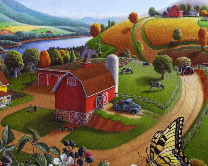 """Just Finished This Oil Painting """"Blackberry Patch Rural Farm Landscape"""". - WetCanvas"""