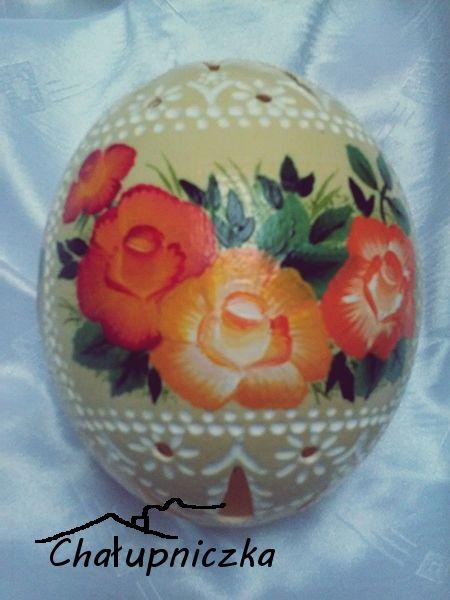 Pisanka ze strusiego jaja.