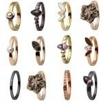 SKAGEN Damen Ringe verschiedene Modelle zur Auswahl gold, bronze, schwarz