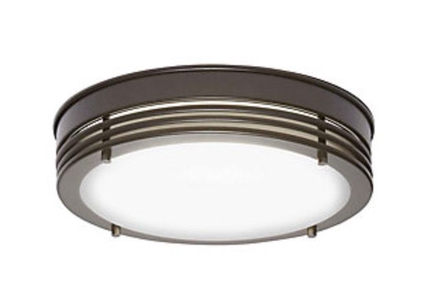 """Oil Rubbed Bronze 13"""" LED Flushmount Light from Home Decorators Collection at Home Depot"""